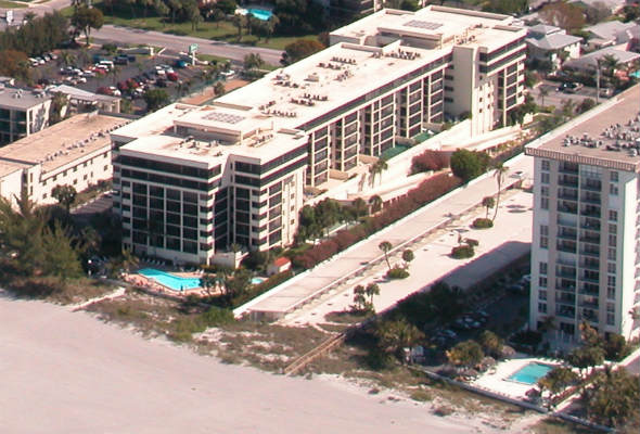 Aerial view of Lido Surf and Sand