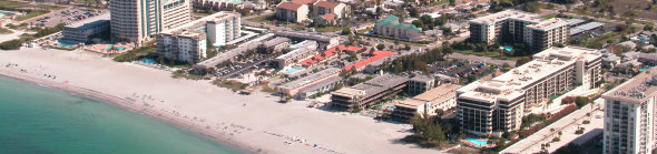 Aerial View of Lido Key condos