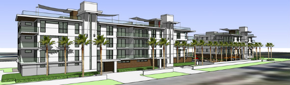Rendering of the Park Residences of Lido Key
